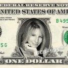 BARBRA STREISAND on REAL Dollar Bill - Celebrity Collectible Custom Cash