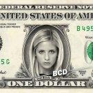 SARAH MICHELLE GELLAR - Real Dollar Bill Cash Money Collectible Memorabilia Celebrity