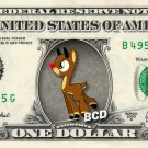 Rudolph the Red-Nosed Reindeer on REAL Dollar Bill Collectible Cash Money