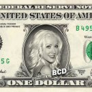 CHRISTINA AGUILERA on REAL Dollar Bill Collectible Cash Celebrity Money Mint $1
