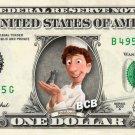 Ratatouille on REAL Dollar Bill Disney Collectible Celebrity Cash Memorabilia Bank