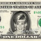 PRINCESS DIANA on REAL Dollar Bill - Collectible Celebrity Custom Cash Money Art