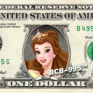 Disney's Princess BELLE on REAL Dollar Bill - Collectible Cash Money