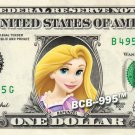 Disney's Princess RAPUNZEL on REAL Dollar Bill - Collectible Cash Money