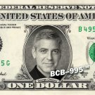 GEORGE CLOONEY on Real Dollar Bill - $1 Celebrity Cash Custom Money