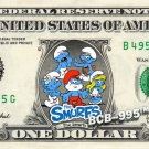SMURFS on REAL Dollar Bill - Cash Money Papa, Smurfette, Brainy, Grouchy