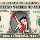 BETTY BOOP on REAL Dollar Bill - Collectible Cash Money