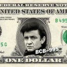 JOHNNY CASH on A REAL Dollar Bill Cash Money Collectible Memorabilia Celebrity