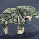 Money Origami ELEPHANT - Dollar Bill Art - Made with Real $1.00 Cold Cash