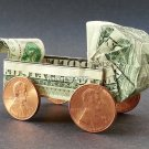 Money Origami BABY BUGGY - Dollar Bill Art - Made with $1.00