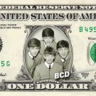 BEATLES on REAL Dollar Bill - Collectible Celebrity Cash Money Art
