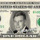CHARLTON HESTON on REAL Dollar Bill - Collectible Celebrity Cash Money Art