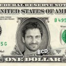 GERARD BUTLER on REAL Dollar Bill - Collectible Cash Collectible Celebrity Money