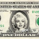 MARILYN MONROE on REAL Dollar Bill - Collectible Celebrity Cash Money Art