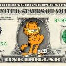 GARFIELD on a REAL Dollar Bill Cash Money Collectible Memorabilia Celebrity Bank