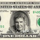 HARRISON FORD on a REAL Dollar Bill Cash Money Collectible Memorabilia Celebrity