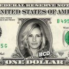 JULIA ROBERTS on REAL Dollar Bill Collectible Cash Celebrity Money Mint $1.00