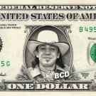 STEVIE RAY VAUGHAN on REAL Dollar Bill Spendable Cash Celebrity Money Mint