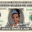 Disney's TIANA ( Princess and the Frog ) on REAL Dollar Bill - Cash Money