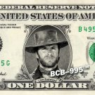 CLINT EASTWOOD on REAL Dollar Bill - Celebrity Collectible Custom Cash