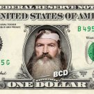 Duck Dynasty PHIL on REAL Dollar Bill Collectible Cash Money