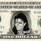 MICHAEL JACKSON on REAL Dollar Bill - Celebrity Collectible Cash - Who's Bad?