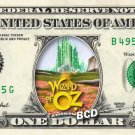 WIZARD OF OZ 9-set Dollar Bill Collection - Made with Real Money Cash