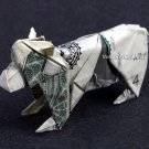 Money Origami BEAR CUB - Dollar Bill Art - Made with $1.00 Cash