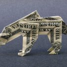 Money Origami POLAR BEAR - Dollar Bill Art - Made with $1.00 Cash