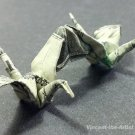 Money Origami DOUBLE CRANES - Dollar Bill Art - Made with Real $1.00 Cash