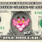 PINK PANTHER on REAL Dollar Bill - Collectible Celebrity Cash Money Art