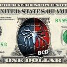 SPIDERMAN Logo on REAL Dollar Bill - Collectible Celebrity Cash Money Art