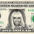 NICKI MINAJ on REAL Dollar Bill - Spendable Cash Collectible Celebrity Money Art