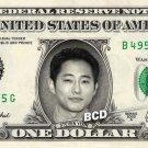 STEVEN YEUN on REAL Dollar Bill Spendable Money Walking Dead - Glenn Rhee