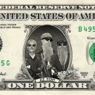 ZZ TOP on REAL Dollar Bill - Celebrity Collectible Custom Cash