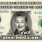 WALT DISNEY on REAL Dollar Bill - Spendable Cash Collectible Celebrity Money Art