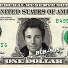BRUCE SPRINGSTEEN on a REAL Dollar Bill Cash Money Collectible Memorabilia Bank