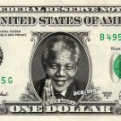 NELSON MANDELA on REAL Dollar Bill - Celebrity Collectible Custom Cash