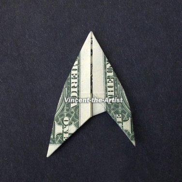 Money Origami STAR TREK BADGE - Dollar Bill Art - Made with real $1 Cash