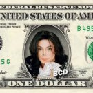 MICHAEL JACKSON on REAL Dollar Bill - Celebrity Collectible Cash - Just Beat It!