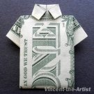 Money Origami POLO SHIRT - Dollar Bill Art - Made with real $1 Cash