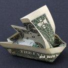 SAIL BOAT Money Origami - Dollar Bill Cash Art - Unique Gift Idea