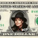 MICHAEL JACKSON on REAL Dollar Bill - Celebrity Collectible Cash #1 in the world