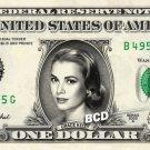 GRACE KELLY on REAL Dollar Bill Spendable Cash Celebrity Money Mint