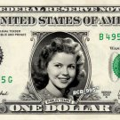 SHIRLEY TEMPLE on REAL Dollar Bill - Celebrity Collectible Money Cash