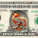 KOI FISHES on REAL Dollar Bill - Collectible Celebrity Cash Money Art