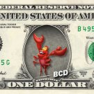 SEBASTIAN Little Mermaid on REAL Dollar Bill - Collectible Celebrity Cash Money
