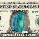 JAMES P SULLIVAN on REAL Dollar Bill - Collectible Celebrity Cash Money Art