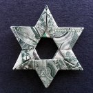 Money Origami STAR of DAVID - Dollar Bill Art - Made with real $1 Cash