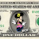 MINNIE MOUSE on REAL Dollar Bill - Collectible Celebrity Cash Money Art